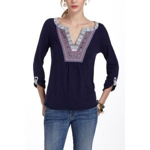 🌷 Meadow Rue cuoco Henley top Anthropologie